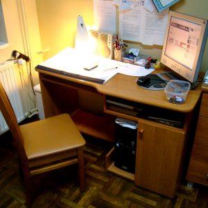Nasze biuro w Domu Samotnej Matki